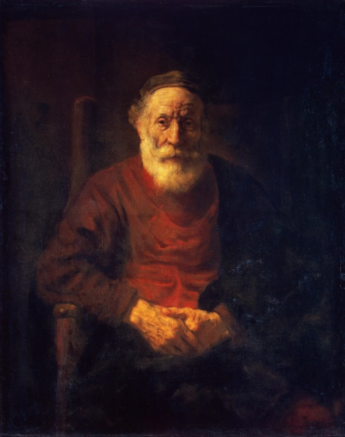 Rembrandt Portrait of an Old Man in Red