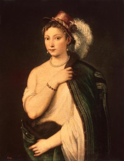 Tizian Portrait of a Young Woman